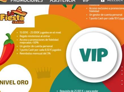 La Fiesta Casino VIP promociones