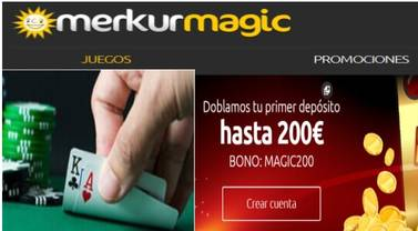 Espectacular duplicación de primer ingreso hasta por 200 euros Merkurmagic