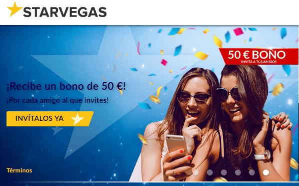 hasta 200 euros por bono de bienvenida Casino Starvegas